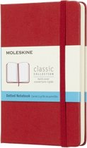 Moleskine classic notitieboek rood - Pocket - Hard cover - Gestippeld