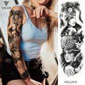 Tattoo sleeve temporary - Festival tattoo - Tijdelijke plak tattoo - Tattoo arm om te proberen - Volwassenen