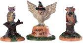 Lemax - Happy Owl-o-ween -  Set Of 3
