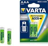 Varta batterijen Oplaadbaar AAA ( 2 stuks )