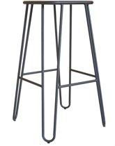Legend Wire - Metalen kruk - Midden 65 cm - Mat zwart