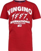 Vingino Jongens T-shirt - Classic Red - Maat 98