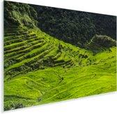 Zonnige dag boven de Rijstterrassen van Banaue in de Filipijnen Plexiglas 90x60 cm - Foto print op Glas (Plexiglas wanddecoratie)