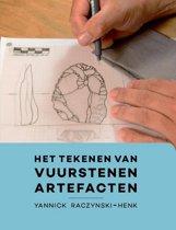Het tekenen van vuurstenen artefacten