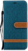 Denim Book Case Samsung Galaxy A6 Plus (2018) Hoesje - Groen