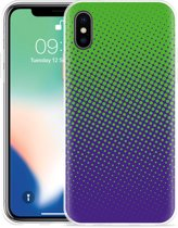 Apple iPhone Xs Max Hoesje lime paarse cirkels