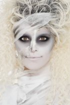 Halloween schmink - Mummie make-up set met vloeibare latex, nephuid, gaasje en schinkkwastjes