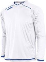 Hummel Leeds Sportshirt performance - Maat XL  - Unisex - wit/blauw
