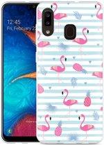 Galaxy A20 Hoesje Flamingo Ananas