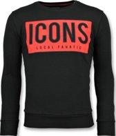 Local Fanatic ICONS Block - Leuke Sweater Heren - 6355Z - Zwart - Maten: XL