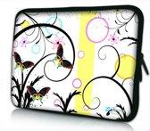 Laptophoes 14 artistiek vlinder design - Sleevy