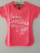 D-RAK-meisjes-t-shirt-kleur: roze-maat 116