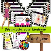 Speurtocht - Cira en de gestolen modeontwerpen - actiespel - 6 t/m 8 jaar - kinderfeestje - speurtochtpakket - speurpakket
