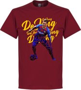 F. de Jong Barcelona Script T-Shirt - Rood