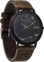 De officiële WoodWatch | Black Marble Khaki | Houten horloge heren
