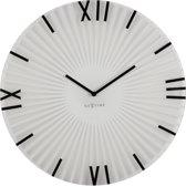 NeXtime Sticks - Klok - Stil Uurwerk - Rond - Glas - Ø43 cm - Zwart/ Wit