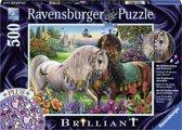 Ravensburger Adorable Stallions Briljant Puzzel van 500 stukjes