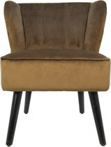 HSM Collection - Cocktail chair - velvet olijfbruin