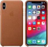 Apple Lederen Back Cover voor iPhone Xs Max - Bruin