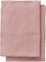 Cottonbaby Multidoek Cottonsoft S 60x70 per 2 oudroze