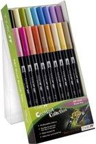 TOMBOW Dual Brush Pen ABT, 18-colours-set, secondary colours