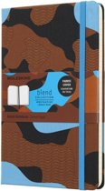 Moleskine Limited Collection Notebook - Large - Ruled - Hard Cover - Camouflage Blue