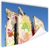 Stukken van de Berlijnse muur Poster 90x60 cm - Foto print op Poster (wanddecoratie woonkamer / slaapkamer) / Steden Poster