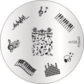 KONAD stempel plaatje voor uw stamping nailart M105 LIEFDE