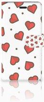 Samsung Galaxy A7 2017 Bookcase hoesje Design Hearts