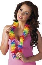 1x Voordelige gekleurde hawaii krans