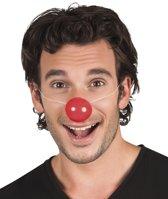 36 stuks: Set a 6 Clownsneuzen plastic