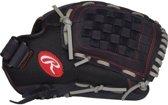 Rawlings R120BGS Renegade Pro Mesh Honkbalhandschoen - 12 inch - Black/Grey/Red