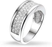 Silventi 943281942 58 Zilveren Ring - met Zirkonia - Pavé - Zilverkleurig