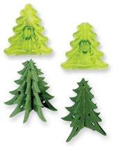 JEM 3D Kerstbomen Uitsteker set/2
