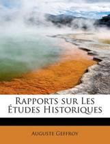Rapports Sur Les Etudes Historiques