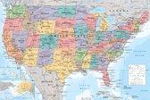 Verenigde Staten van Amerika kaart-USA-poster- 61x91.5cm