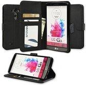 LG G3 Portemonnee Hoesje Case Zwart