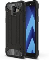 Armor Hybrid Samsung Galaxy A6 Plus Hoesje - Zwart