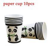 10 stuks kartonnen bekers panda