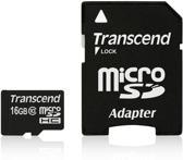 Transcend 16GB Micro SDHC Class 10 + adapter