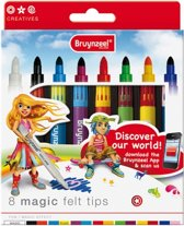 Inspiring Young set 8 magische stiften (14 kleuren) Magic Felt Tips viltstiften