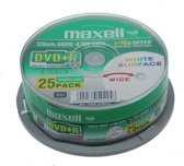 Maxell computerbehuizingen DVD+R 4.7 GB printable 8x spindle 25 stuks
