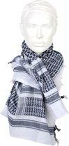 Zwart witte Keffiyeh sjaal