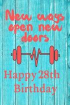New Ways Open New Doors Happy 28th Birthday: This weekly meal planner & tracker makes for a great Birthday and New Years resolution gift for anyone tr