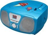 Bigben Draagbare Radio CD Speler met Stickers - Blauw
