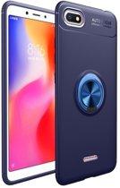 Teleplus Xiaomi Redmi 6A Ravel Ring Silicone Case Navy Blue + Nano Screen Protector hoesje