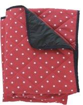 Gewatteerd picknickkleed rood met witte stip