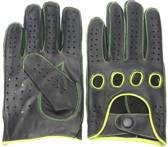 Racing gloves zwart-geel maat XL
