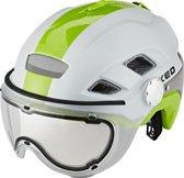 KED B-VIS helm groen/wit Hoofdomtrek 52-58 cm