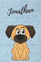 Jonathan Hunde-Notizbuch / Malbuch / Tagebuch: Individuelles personalisiertes blanko Jungen & M�nner Namen Notizbuch, blanko DIN A5 Seiten. Ideal als